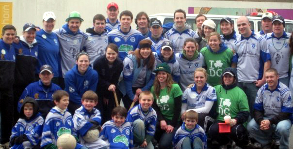 Washington D.C. Gaels adult and youth teams at the 2009 D.C. St. Patrick's Day parade.
