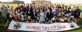 Irish President Mary McAleese on a visit last year with the Dubai Celts