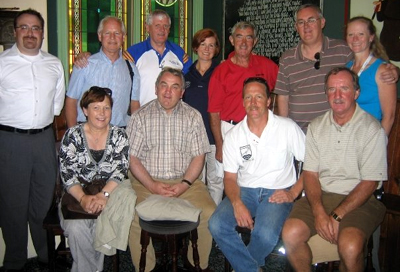 In 2007, current GAA President Christy Cooney (back, second from right), and former President Nickey Brennan (front, second left) paid a visit to Milwaukee Hurling Club. Dave Olson is seated in the front row between Mr Brennan and former NACB Chairman, Tommy Dolan.