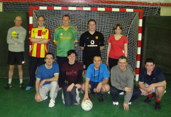Members of the club at indoor training