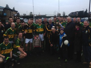 Kingdom Kerry Gaels celebrate at Ruislip having added the league title to last month's championship crown. (Photo by London GAA PRO Declan Flannagan).