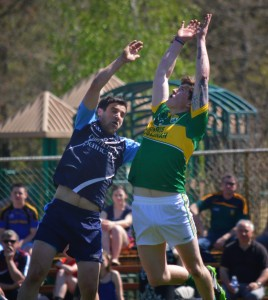 Boston Kerry in action against Wolfe Tones in a Pat O'Brien Quarter Final at Canton, MA last Sunday
